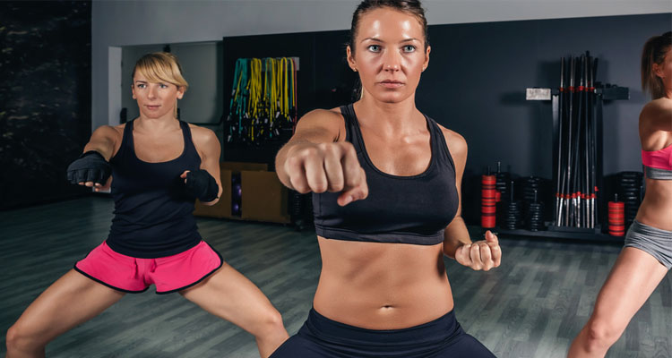 women Training Boxing