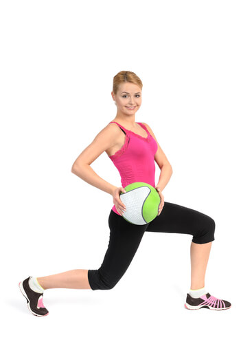 Front Lunge Pass Under Exercise