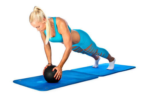 Push up Knee Tuck Exercise