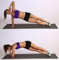 side to side plank